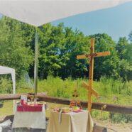 В воскресные дни Божественная литургия будет совершаться на участке запланированного строительства храма