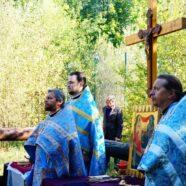 Первая Божественная литургия на месте строительства храма в Мюнхене